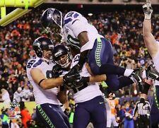2014 Super Bowl XLVIII JERMAINE KEARSE TD! w/ Miller&Coleman Seahawks 8x10 photo