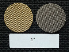 "1"" brass tobacco pipe screen filters - 50 count - high quality!"