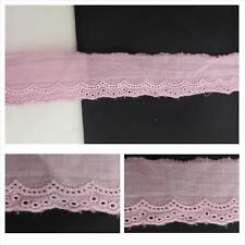 """$1 Clearance 2 yards mauve scalloped embroidered eyelet trim 1"""" W"""