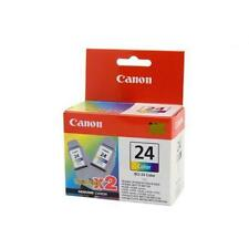 GENUINE ORIGINAL CANON BCI-24C COLOUR INK TANK TWIN PACK I250 PAST INSTALL DATE