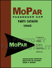 1960 MoPar Illustrated Parts Book Dodge Plymouth Chrysler DeSoto De Soto Catalog