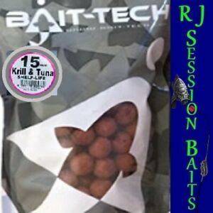 Bait-Tech Krill & Tuna 15mm Session Pack of 25 Boilies
