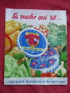 ancien sachet publicitaire d'épicerie LA VACHE QUI RIT BENJAMIN RABIER BONBEL