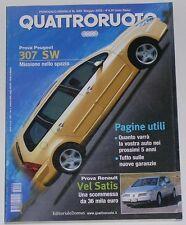 QUATTRORUOTE 5/2002 MERCEDES E 270 CDI – OPEL ZAFIRA 2.2 DTI / ASTRA CABRIO 1.6