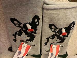 HUE Women's Socks 2 pair Socks Jeans Socks Casual Crew Socks One Size
