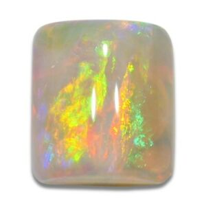 1.48 ct TOP Weißer Opal aus Coober Pedy - Australien Rot Orange Grün Edelopal