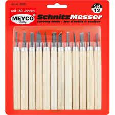 Schnitzwerkzeug / Schnitzmesser-Set 12 teilig von Meyco Hobby (65081)