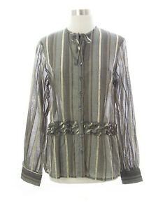 WALTER VOULAZ Women's Multi Button Down Shirt C0646TM076 IT 46 NEW