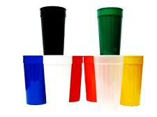 3 Large Drinking Glasses. Tumblers Cups Made in USA 8 Colors offered .Non toxic
