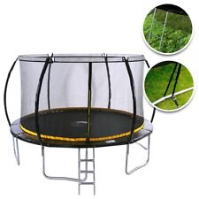 KANGA 12FT Trampoline with Enclosure, Ladder, Anchor Kit Inc Warranty