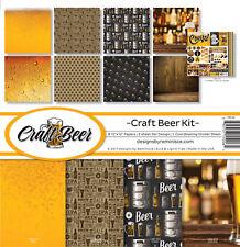 Reminisce CRAFT BEER Scrapbook Kit (8) 12x12 Papers (1) Sticker Sheet