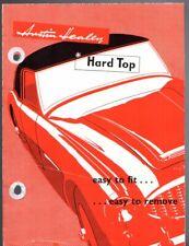 Austin Healey 100 Six Accessory Hardtop 1958-59 UK Market Foldout Brochure