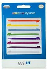 Wii U Rainbow Styluses Set of 8 Brand New Sealed in Retail Packaging
