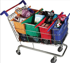 Set of 4 Reusable Shopping Trolley Bags Eco-friendly Grocery Cart Carrier