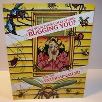 Exterminator Arcade FLYER Original NOS 1989 Video Game Artwork Sheet Gottlieb