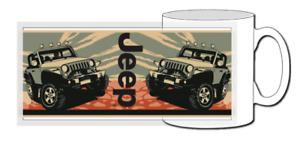 jeep mug, 4x4, offroad, wrangler, jl, chrysler, yj, tj, jk, j8, rubicon