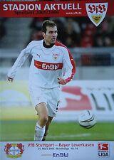 Programm 2005/06 VfB Stuttgart - Bayer Leverkusen
