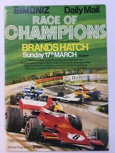 Race of Champions Brands Hatch 1974 programme