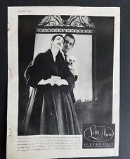 1956 women's Lilli ann luxury coat white poodle dog vintage fashion ad