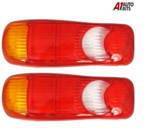 Fits Nissan Cabstar Rear Tail Light 2x Lens Eclipse Teardrop Rh + Lh