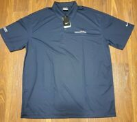 Nike Golf Polo Shirt 2XL XXL Dark Blue Dri Fit Mens Conoco Phillips Logo
