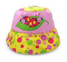 Children Sun Hat Sunhat Protection Children's Headpiece Beetle Rosa Multicolour