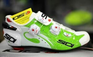 SIDI Wire Carbon Road Cycling Shoes Bike Shoes Green Fluo/White Size 39-46 EUR