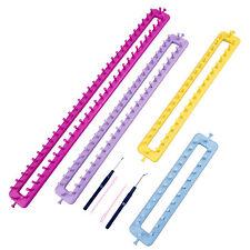 XXL Set 6tlg Strickring Strickrahmen Knitting Loom Anleitung Strickliesel Haken