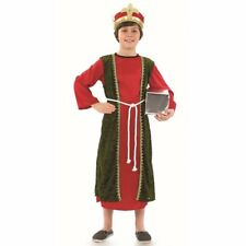 Child Red Wise Man Costume Boys Christmas Nativity Fancy Dress Outfit Age 6 - 8 Yrs (m)