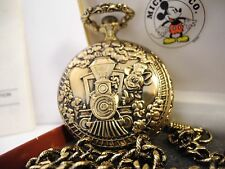 DISNEY SUTTON MICKEY MOUSE POCKET WATCH NEW SPECIAL TIN AND CHAIN LOWERED PRICE
