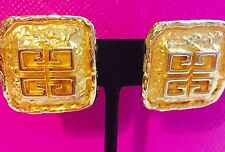 Vintage Iconic Parfums Givenchy France Square Logo Clip On