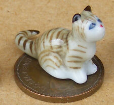 1:12 SCALA Bianco in Ceramica Gatto e Palla Animale Domestico Accessorio Ornamento Casa di Bambole tumdee