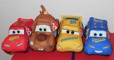 Ty Beanie Babies Disney Cars 3 - SET OF 4 (Cruz, Mater, Hero & Fabulous McQueen)