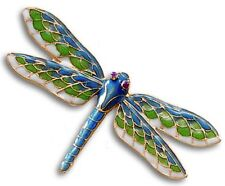 Dragonfly Brooch in Green, Blue & Cream ~ Museum Store Collection
