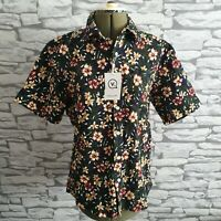 Vanquish Matching Shorts & Blouse Outfit Suit L 14 Vtg Floral bnwt new