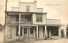 1920s? Printed Postcard Fire Station Headquarters Mt. Bethel PA Northampton Co.