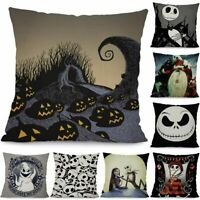 Nightmare Before Christmas Jack Skellington Cushion Cover Pillow Case Halloween