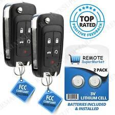 2x Remote Flip Car Key Fob for 2010 2011 2012 2013 2014 2015 2016 Chevy Equinox