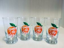 "Threshold/Libbey 9oz ""Squeeze of the Day"" Footed Orange Juice Glasses Set of 4"