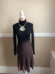 Karen Millen Fine Knit Stretch Fit and Flare Dress, Size 8, VGC