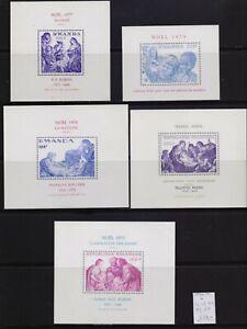 ! Rwanda 1973-1979. Blocks Stamp. YT#B31,67,70,80,84. €37.00!