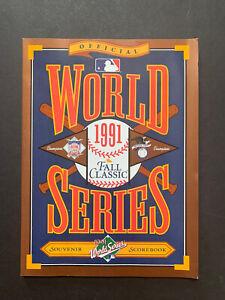 1991 World Series Program Minnesota Twins vs Atlanta Braves Nm Mint