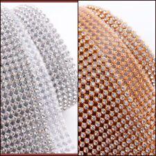 Strip Diamonte 3mm Chaton Ribbon Clear Silver/Gold Iron-On Crystal Diamante Reel