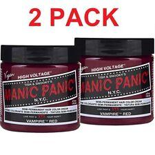 2 PACK  Manic Panic Vampire Red Hair Dye - Classic High Voltage 4oz