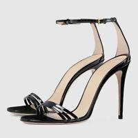 High Stilettos Party Ankle Strap Sandals Women Buckle Open Toe Party Heels Shoes