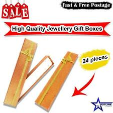 24pc's High Quality Necklace Bracelet Empty Long Jewellery Gift Boxes Bags Small