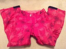 EUC! Girls Columbia Pink Snow Pants Sz 14-16 Great Style / Pattern and Color!