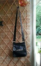 Kenneth Cole Production Purse Black Leather Crossbody Messenger Shoulder Bag