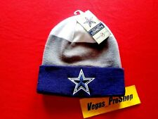 ADULT SIZE DALLAS COWBOYS TX NFL WHITE NAVY BLUE GREY BEANIE GRAY CAP HAT NWT