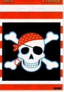 Pirate Party Supplies - Plastic Treasure Lootbag 8pk